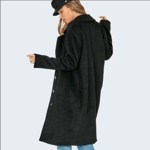 Amuse Society Textured Coat Black Large 2030